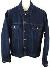 Guess Mens Blue Jean Button Down Denim 4 Pocket Crop Jacket Size XL