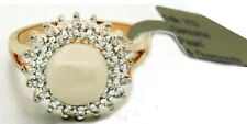 NATURAL 7 mm CULTURED PEARL & 1 Ct DIAMONDS RING 14K GOLD * Free Appraisal *