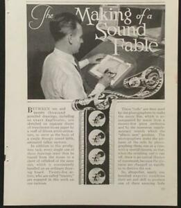 Aesop's Sound Fables 1930 pictorial *The Making of a Sound Fable Van Beuren Corp