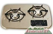 Suburban RV Camper Black Cooktop LP Propane Stove 2 Burner 2937ABK Propane NEW
