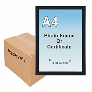 A4 Certificate Photo Frame plastic Front Wall Mounting Clip Stand Various Colour
