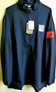 NHL Adidas New York Rangers Hockey GameMode 1/4-Zip Pullover Jacket XL EB6544