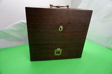 Rare Antique Apothecary Doctor medicine box English Mahogany Rare and Very Nice