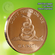 """PROOF /""""Don/'t Tread on Me/"""" 1 oz .999 Copper Round Very Limited and Rare"""