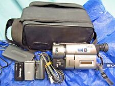 Sony Handycam Ccd-Trv43 8mm Hi-8 Camcorder, Power Cord, Case