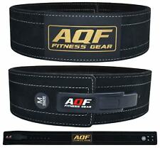 AQF Weight Lifting Leather Power Belt Lever Back Support Straps Gym Training