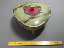 ancienne Boîte bonbon déco en métal faux marbre french antique box