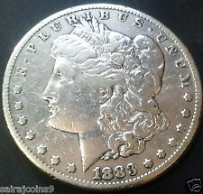 MORGAN SILVER ONE DOLLAR 1883-S IN V F TO X F CONDITION AS PER SCANS