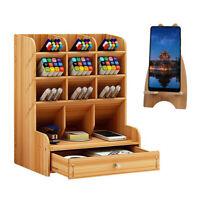 Wooden Desk Organizer, Craft Pen Pencil Holder, Art Desktop Stationary, Office