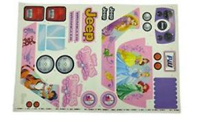 Power Wheels CLD96-0310 Disney Frozen Label Sheet for Jeep Princess Set Sticker
