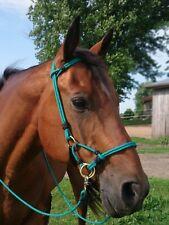 Custom Handmade horse Rope Side pull bitless bridle hackamore