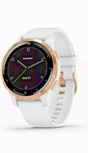 GARMIN Vívoactive 4S 40mm Case with White Band GPS Running Watch Open Box No Box