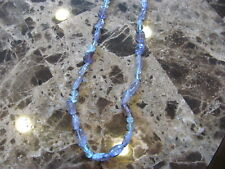 Amethyst and Blue Topaz bead necklace 18 inches 220 cts.