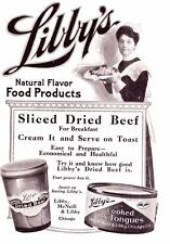 Vintage ad 1910's Libby's Sliced Dried beef & Cooked Ox Tongues