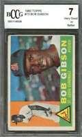 Bob Gibson Card 1960 Topps #73 St Louis Cardinals BGS BCCG 7