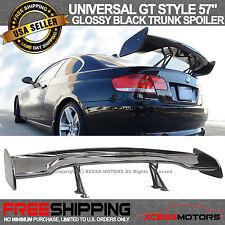 Adjustable ABS Black Rear Trunk Spoiler GT Wing 57 Inch 150Cm Glossy Black