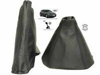 For Opel Vauxhall Astra H MK5 04-14 Gear & Handbrake Gaiter Black Leather