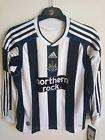 NEW Newcastle United FC Football Home Long Sleeve Shirt 2009 (S Youths) Adidas