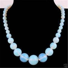 wholesale natural Opal Round Gemstone Beads Necklace 18""
