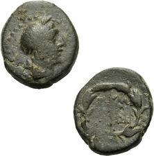 Elaia aiolis Bronzo 2./1. esimo. a.C. Demeter TORCIA spighe GNS V. grandezza 7685.