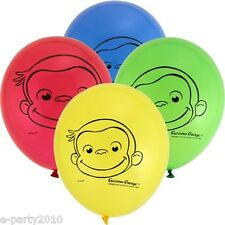 CURIOUS GEORGE LATEX BALLOONS (8) ~ Birthday Party Supplies Room Decorations