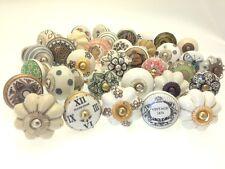 8 Mix Brand New Shabby Chic Vintage Style Ceramic Cupboard Door Wardrobe Knobs