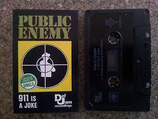 PUBLIC ENEMY - 911 IS A JOKE 2 TRACK CASSETTE TAPE SINGLE VGC