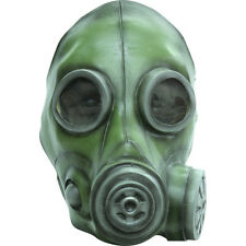 Deluxe Green Gasmask Gas Mask Army Latex Adult Halloween Costume Mask
