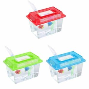 Small Fish Tank Bug Hunting Holding Aquarium Plastic Starter Carry Handle Insect