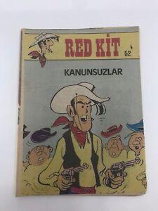 LUCKY LUKE #52 Turkish Comic Book 1990s VERY RARE Morris RED KIT