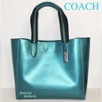 COACH Derby Tote Bag Metallic Iridescent Leather Purse F39675 NWT