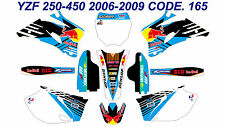 165 YAMAHA YZF 250 450 2006 2007 2008 2009 DECALS STICKERS GRAPHICS KIT