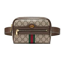 NWT Authentic Gucci Ophidia GG Supreme Canvas & Leather Belt Bag Size 85
