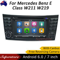 """7"""" HD Car DVD Player GPS For Mercedes Benz E Class W211 W219 Android 6.0"""