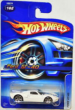 HOT WHEELS 2005 FORD GT-40 WHITE #162