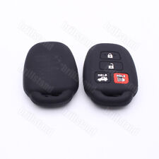 4 Buttons Black Silicone Skin Smart Key Fob Cover Case for Toyota Carmy Corolla