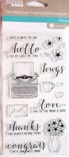 Just My Type Clear Acrylic Typewriter Stamp Set by Jillibean Soup jb1289 New!
