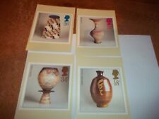 Studio Pottery 13 October 1987 PHQ 105 set Royal Mail Stamp Card Series MINT
