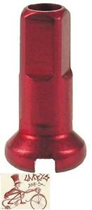 DT SWISS 2.0 X 12MM RED ALLOY BICYCLE SPOKE NIPPLES--BOX OF 100
