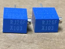 (2 PC)  BOURNS  RJ26FX103 Resistor Variable Cermet Type 10K Ohm 200V 10±%