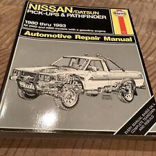 Haynes Repair Manual Nissan Datsun Pickup 1980-1993 Pathfinder 2WD 4WD Book