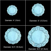 100 X Paper Doily Doilies Round White Lace Table Decoration DIY Craft Party