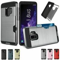 Samsung Galaxy S9  Slim Full Protective Shockproof Card Holder Phone Case