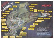 1999 DOCUMENT(ref Cim  2469) STAR WARS PLAN DU VAISSEAU GRAVISTAR III   2pages