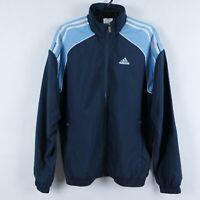 ADIDAS Vintage Mens Blue Zip Up Tracksuit Top Jacket SIZE GB38/40, Medium, M