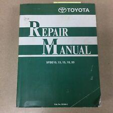 Toyota 5fbe1013151820 Service Shop Repair Manual Fork Lift Truck Ce306 3