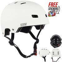 Bullet Safety Gear Skate/BMX Deluxe Protection Helmet, Matte White