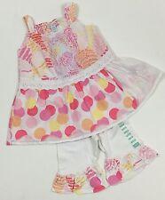 Naartjie NWT 12-18 Eyelet Beach Ball Dress Tropical Island Ruffle Capri Outfit