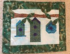 New listing Handmade Birdhouse Quilt Wall Hanging 17.5� X 22�
