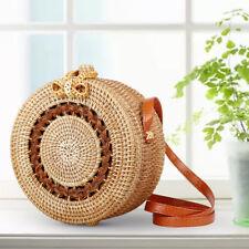 Bali Island Bohemia Beach Circle Bag Hand Woven Bag Round Rattan Straw Bags